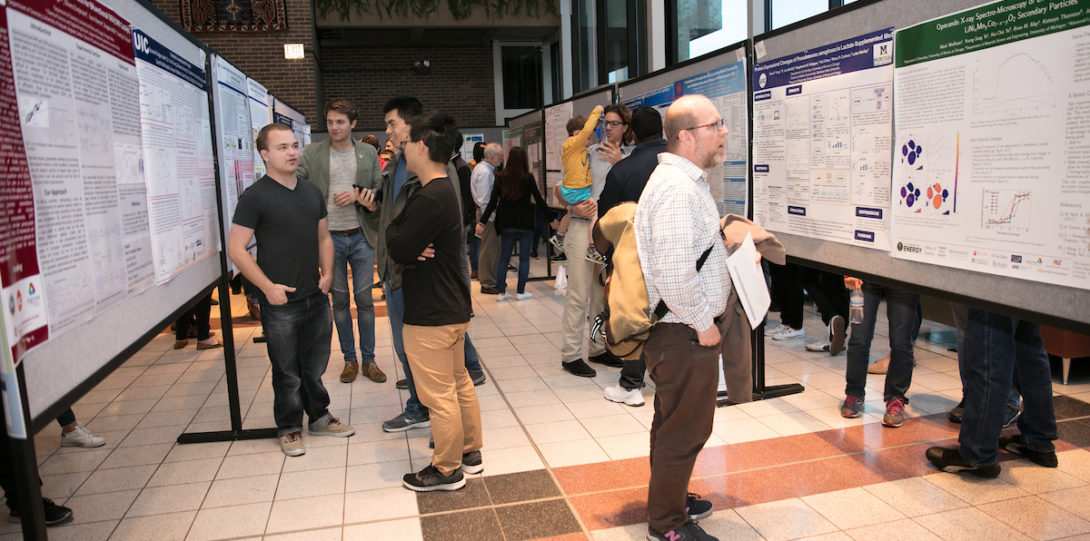 The student research day included a poster session.