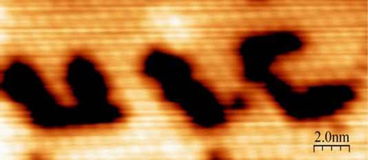 The Trenary group can manipulate individual atoms with STM technology.