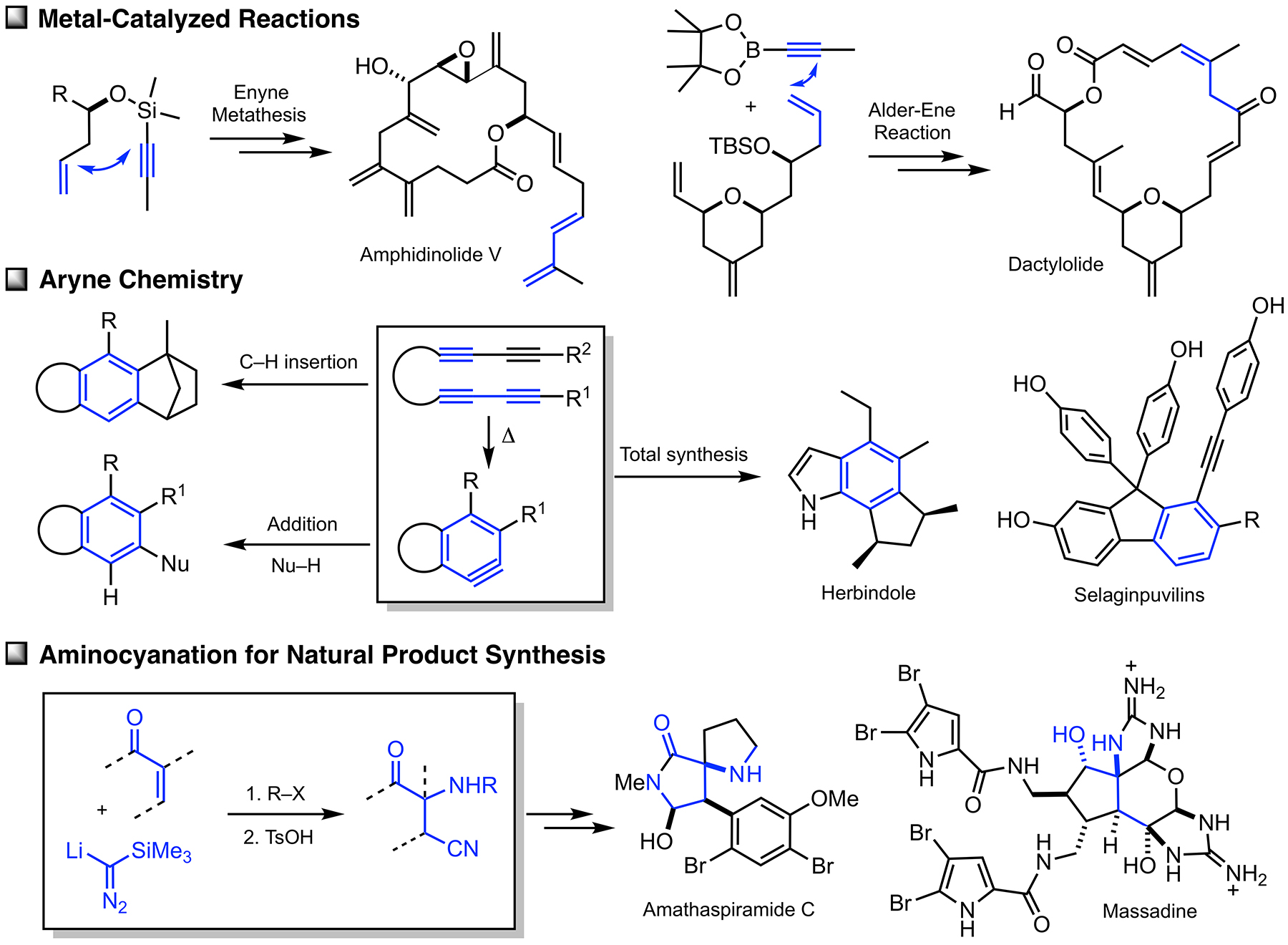 Prof. Lee's group has created several methods for the tandem syntehsis of natural products