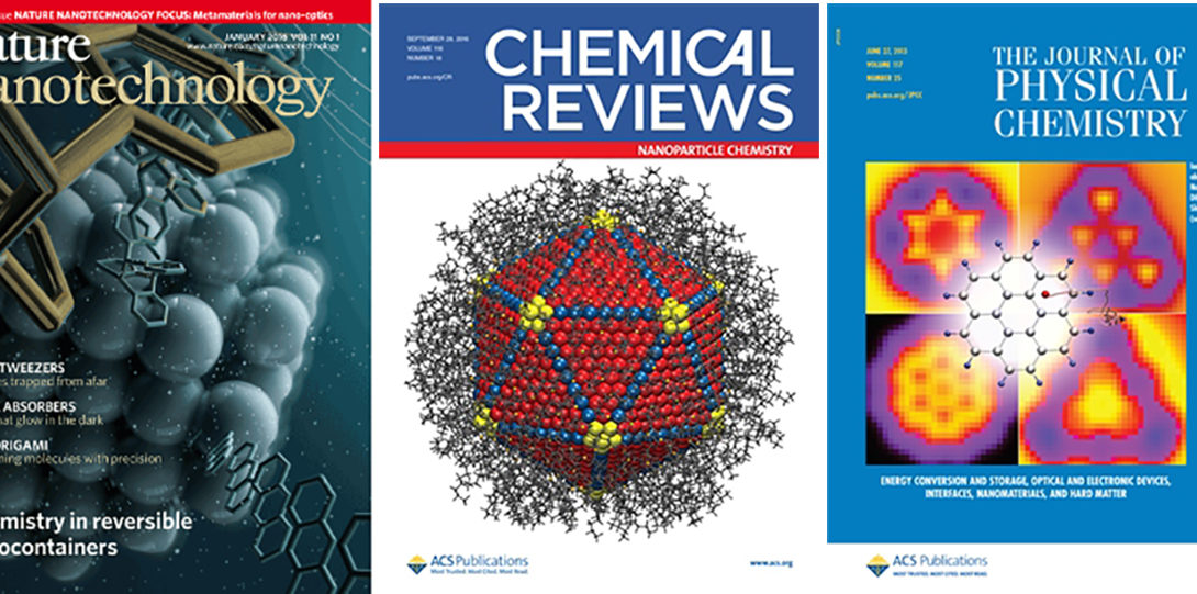 The Kral group has produced cover art for several peer-reviewed Chemistry journals.