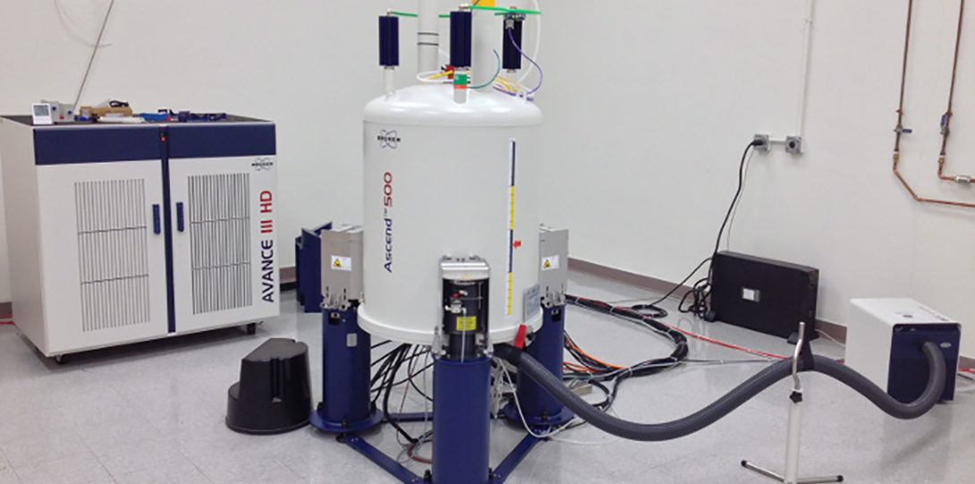 The Dept. of Chemistry has several NMR spectrometers.