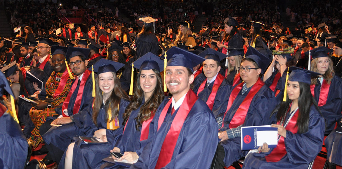 Chemistry students attending LAS Commencement May 13, 2018.