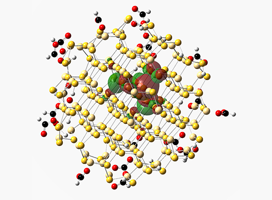 The Snee group uses theoretical methods such as DFT to characterize quantum dots.