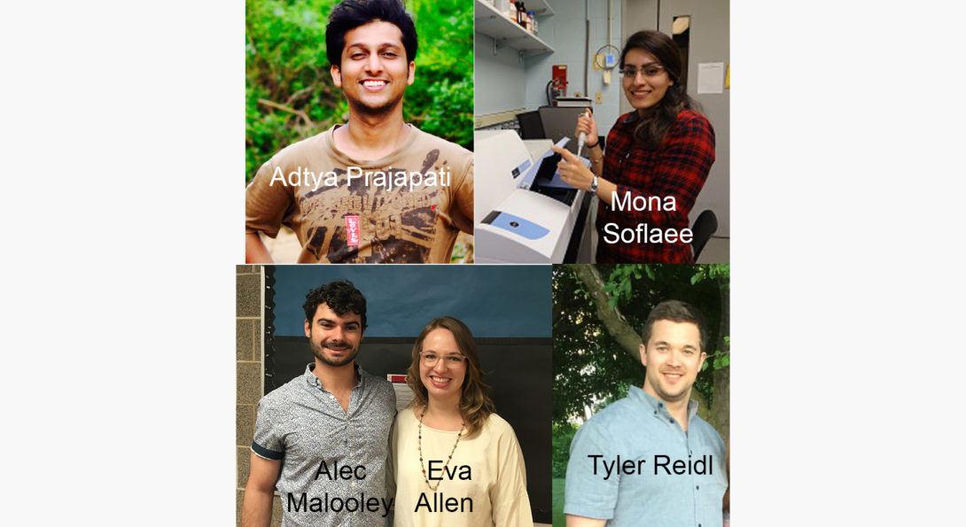 Five graduate students were awarded TA of the year by the undergraduate students.