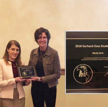 Marija Zoric recieves the 2018 Gerhard Closs award.