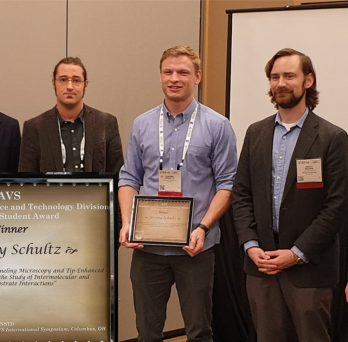 Jeremy Schultz won the Graduate Research Award for the Nanometer-Scale Science and Technology Division of the American Vacuum Society.