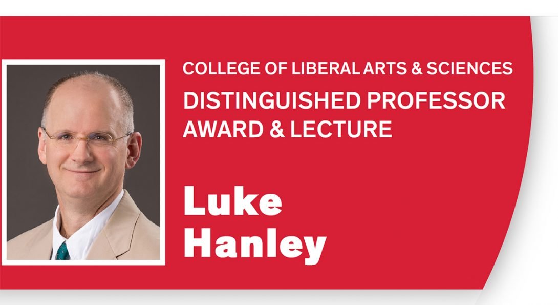 Prof. Luke Hanley was named UIC LAS Distinguished Professor on Nov. 20.