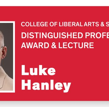 Prof. Luke Hanley was named UIC LAS Distinguished Professor on Nov. 20.