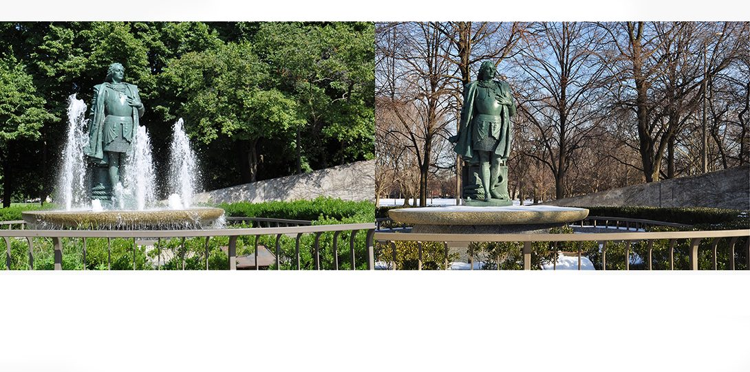 Arrigo Park in summer and winter is quite different!