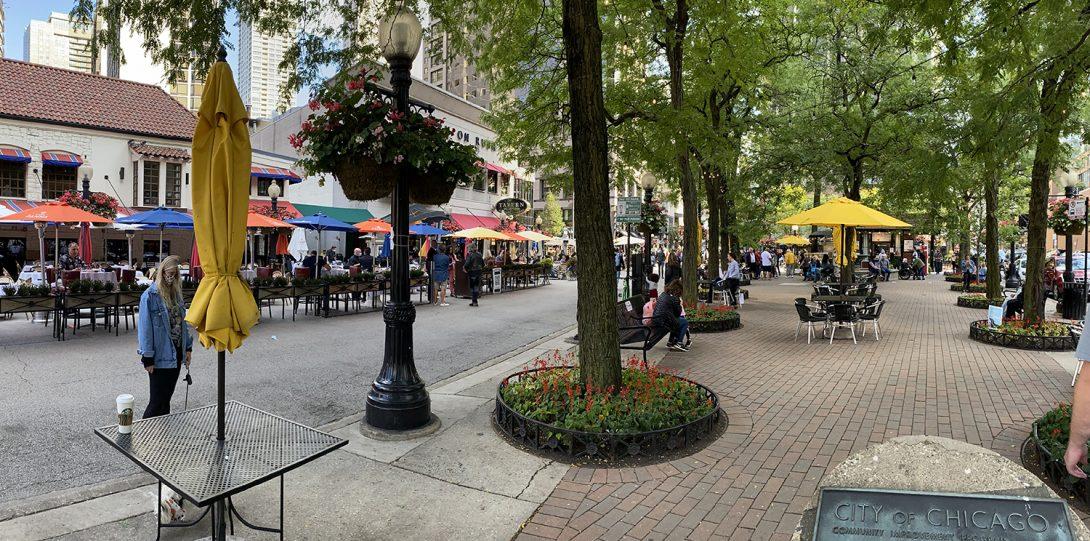 Connors Park has open air restaurants.